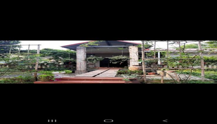 Bán khuôn viên nhà vườn sinh thái tại Lương Sơn Hòa Bình diện tích 1400m2 đầy đủ tiện nghi