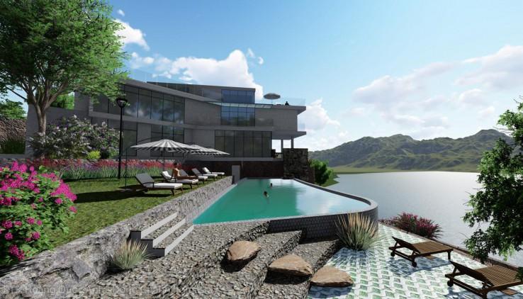 Bán đất bám mặt hồ 70m Đồng Chanh Lương Sơn 3500m 400m tc đường chính oto tránh tặng thiết kế